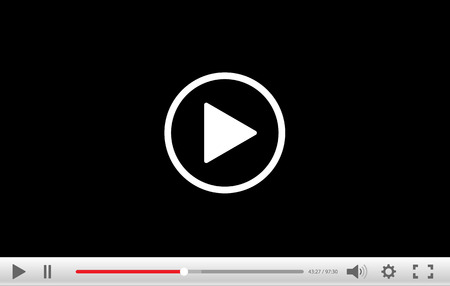 movie screen: video player