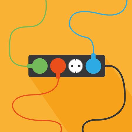 plug socket: Plug and socket Illustration