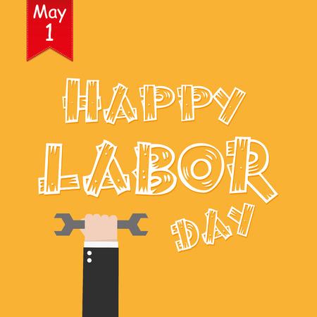 jornada de trabajo: Logotipo del Día del Trabajo cartel, pancarta, un folleto