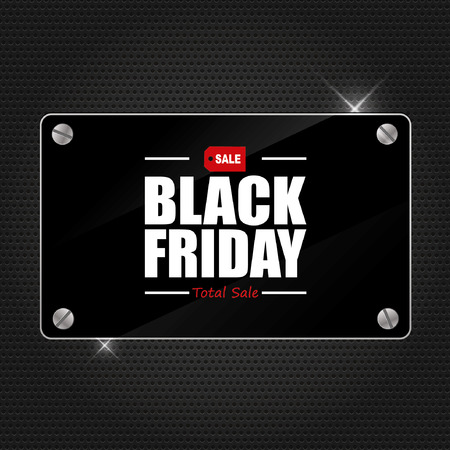 black: Black Friday Sale Poster design Typography vector