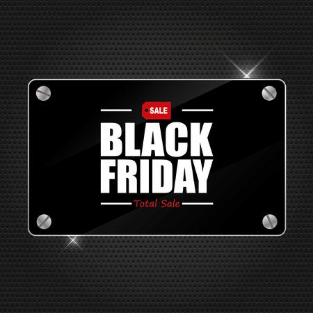 negro: Viernes Negro Cartel de la venta del diseño de la tipografía vector