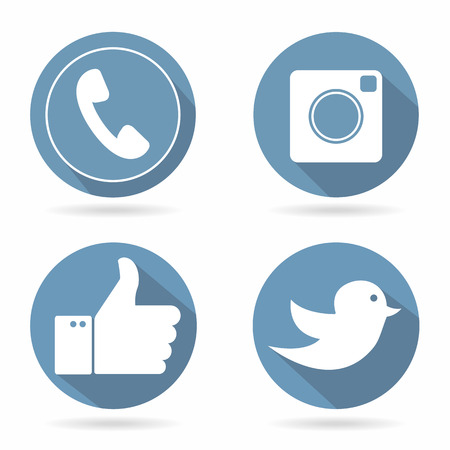 tweeter: Icons for social networking vector