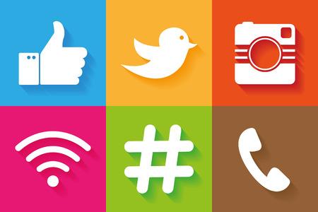 Los iconos de vector de las redes sociales