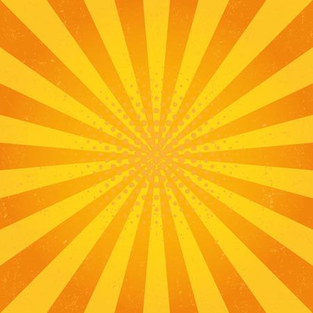 Sun Sunburst Pattern. Retro Background 矢量图像