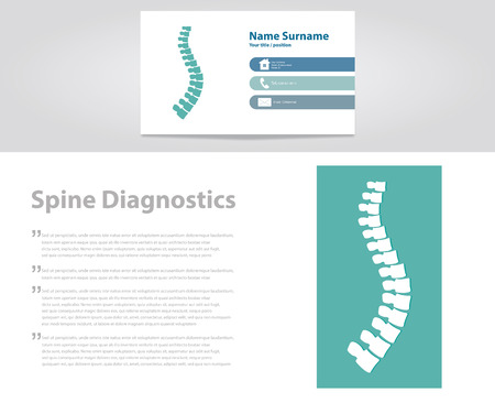 osteoporosis: Spine Diagnostic. Vector Illustration