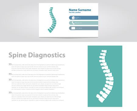 Spine Diagnostic. Vector Illustration
