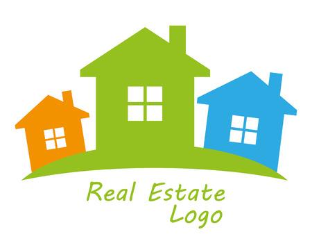 symbolical: Real estate symbolical image isolated on white background