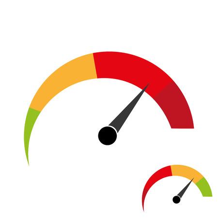 good bad: hard, easy, good, bad, meter status Illustration