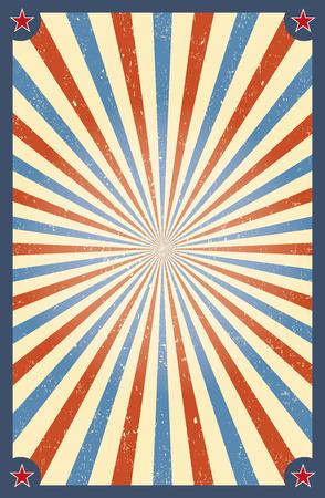 Vintage circus achtergrond voor een poster Stock Illustratie