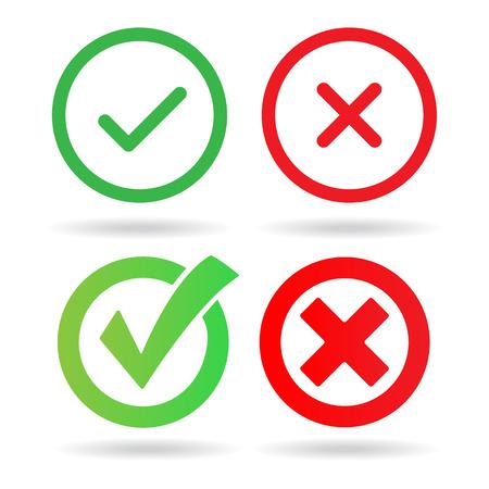 Compruebe Marcar Iconos Vectores