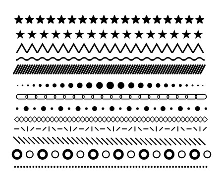 Collection of vector dividers for pattern 矢量图像