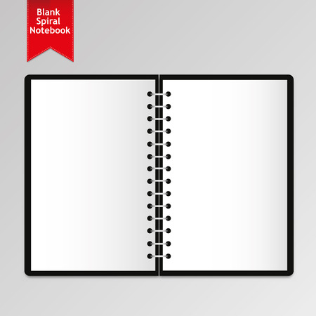 spiral notebook: Blank Spiral Notebook Illustration