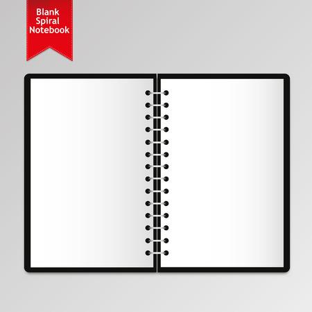 Blank Spiral Notebook Illustration
