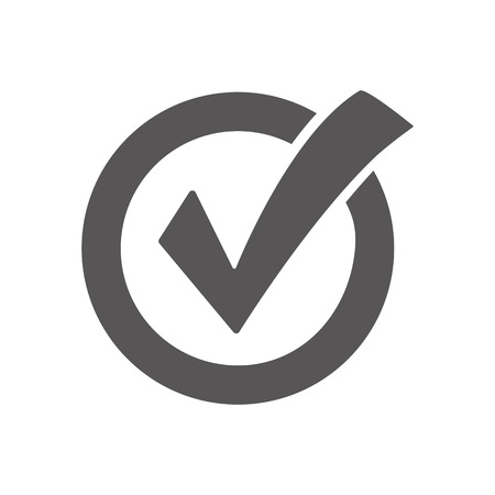 yes: Check mark icon Illustration