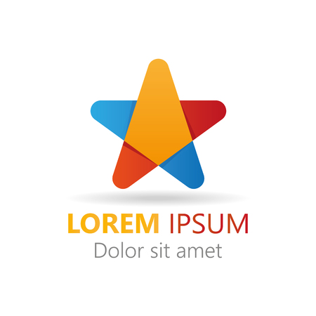 looped shape: Abstract stylish colorful star icon. Elements icon logo
