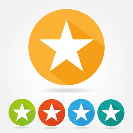 스타 아이콘 플랫 디자인 스톡 콘텐츠 - 45237381