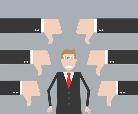 başarısız: Unsuccessful businessman Çizim