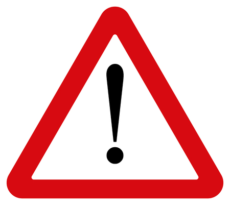internet symbol: Attention sign Illustration