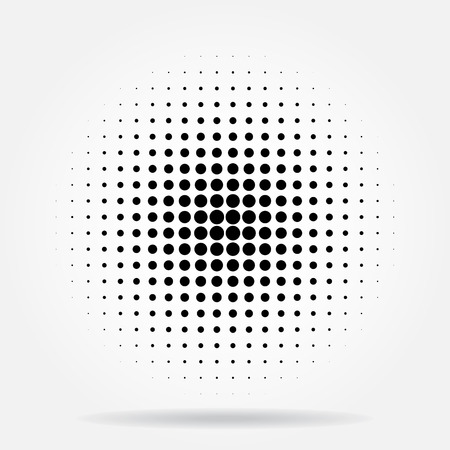 radial: Halftone dots radial