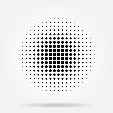 Halftoonrasterpunten radiale Stock Illustratie