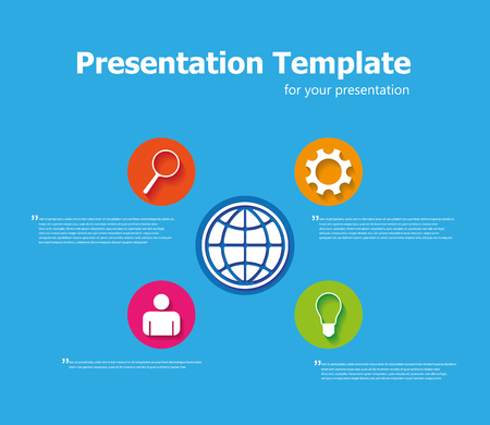 web icons: Business presentation template Illustration