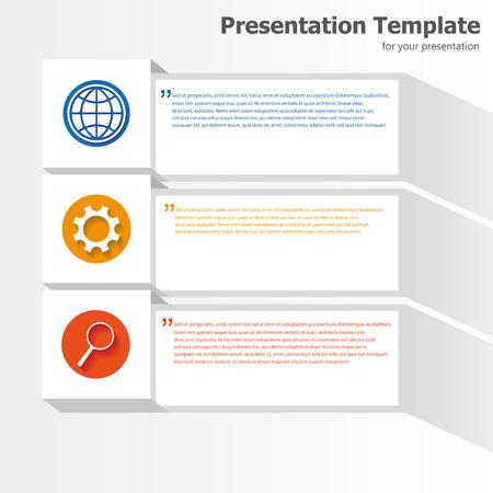 power point: Business presentation template Illustration