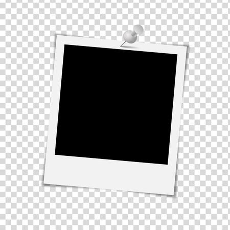 Photo Frame op een witte achtergrond - Vector illustratie Stock Illustratie