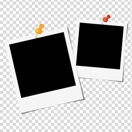 Marco de la foto en el fondo blanco - ilustración vectorial Foto de archivo - 45237501
