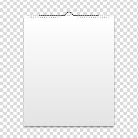 空白のカレンダー、カード デザイン