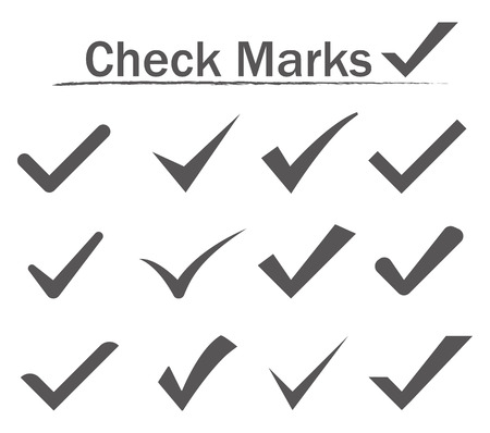 marks: Check Marks Icons. Vector illustration