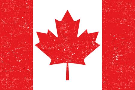 canadian flag: Canadian Flag Vector Illustration