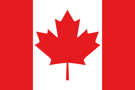canadian icon: Canadian Flag Vector Illustration