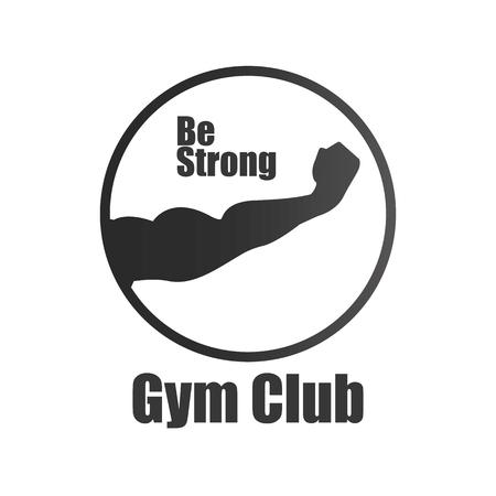 heaviness: Fitness Club logo Illustration