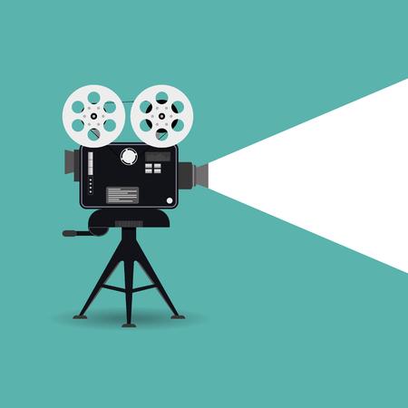 Retro bioscoop pictogram