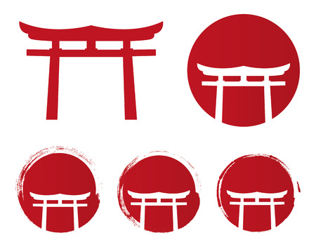 Japan element Illustration