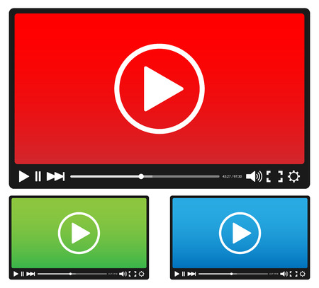 Video player Stock Illustratie