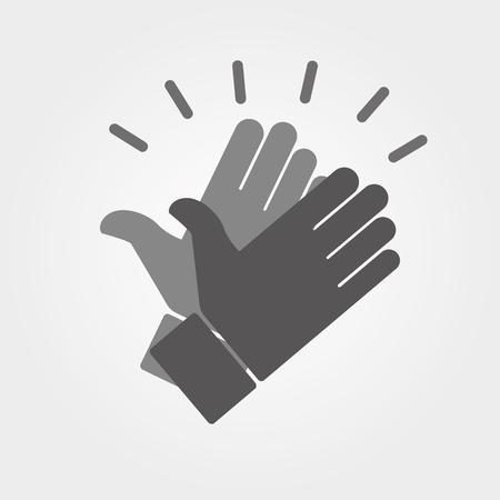 alto: Manos que aplauden iconos vectoriales Vectores