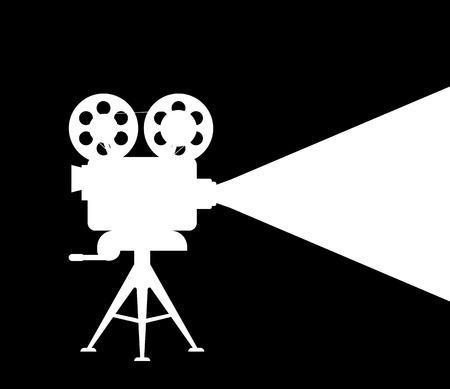 Silueta proyector de películas Foto de archivo - 46940525