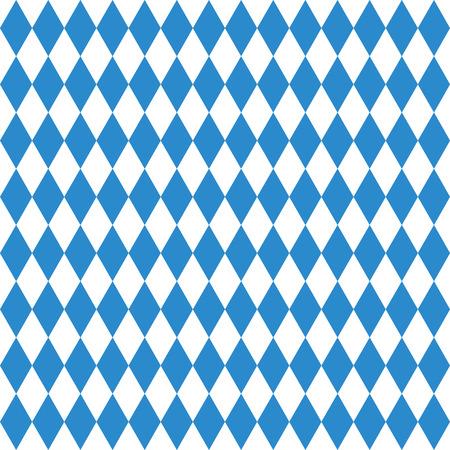 Oktoberfest geruite achtergrond en Beierse vlagpatroon