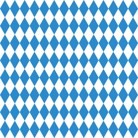 Oktoberfest checkered background and Bavarian flag pattern