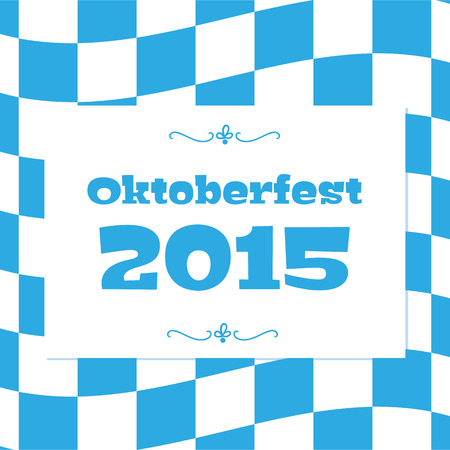 bavarian: Oktoberfest checkered background and Bavarian flag pattern