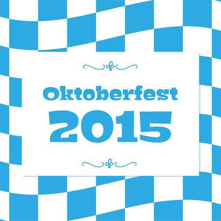 Oktoberfest checkered background and Bavarian flag pattern