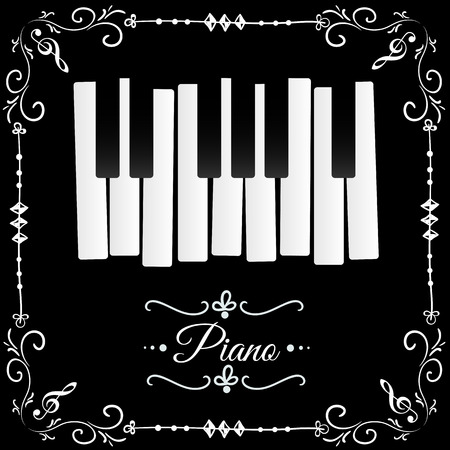 concert poster: Piano Illustration