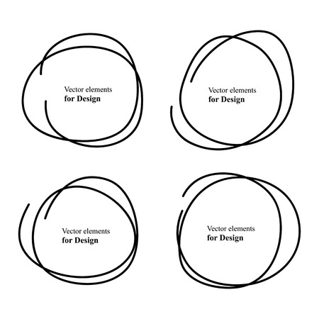 scribble: Hand Drawn Scribble Circles Illustration