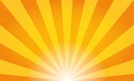 luz solar: Raios solares. Ilustração do vetor