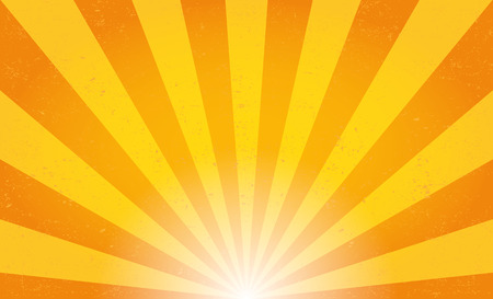 sol: Rayos solares. Ilustración vectorial