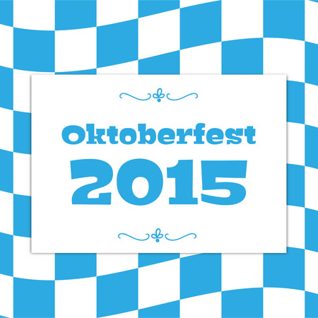 checked flag: Oktoberfest checkered background and Bavarian flag pattern