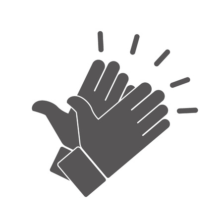 slap: Hands clapping vector icons