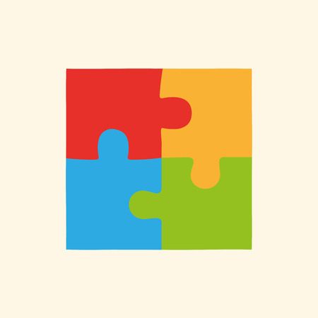 puzzle pieces: Flat puzzles, icon