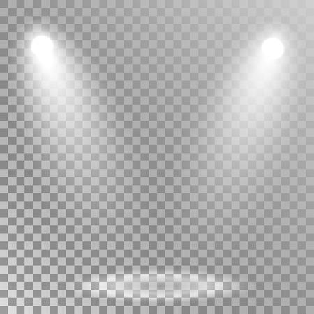 Spotlights illuminate Illustration